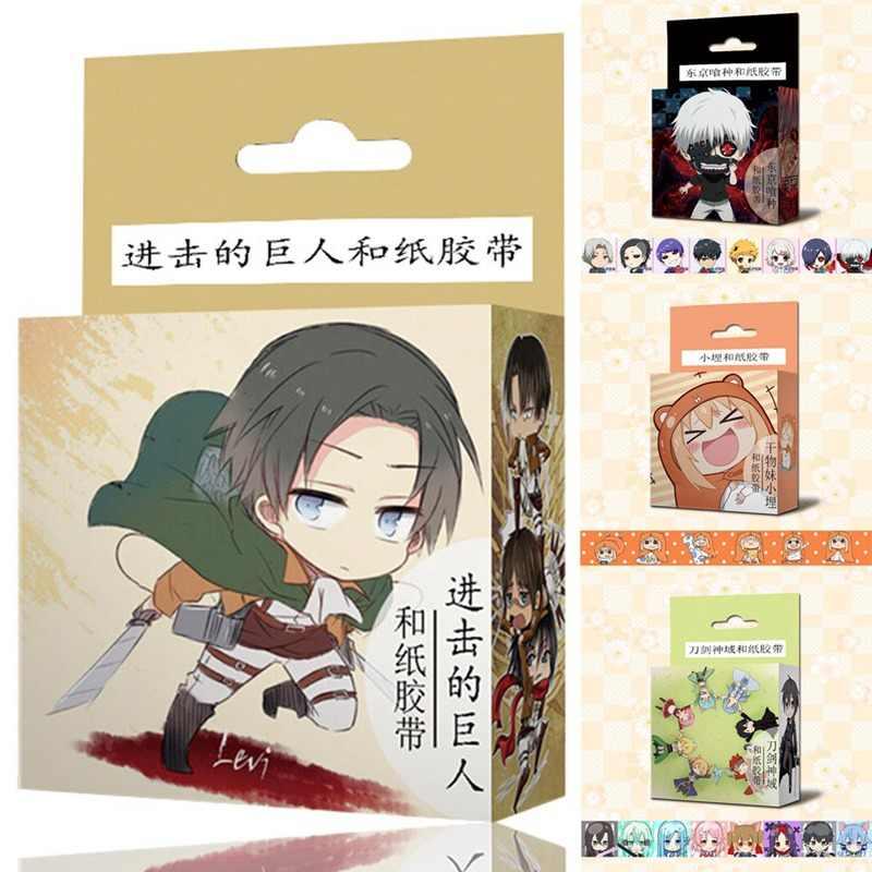 1.5 cm * 5 m Japanse Anime Cartoon Washi Tape Plakband DIY Scrapbooking Sticker Label Afplakband