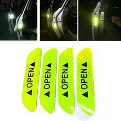 4 шт./компл. автомобиля открываются светоотражающие ленты предупреждающий знак Светоотражающие открыть уведомление велосипед аксессуары