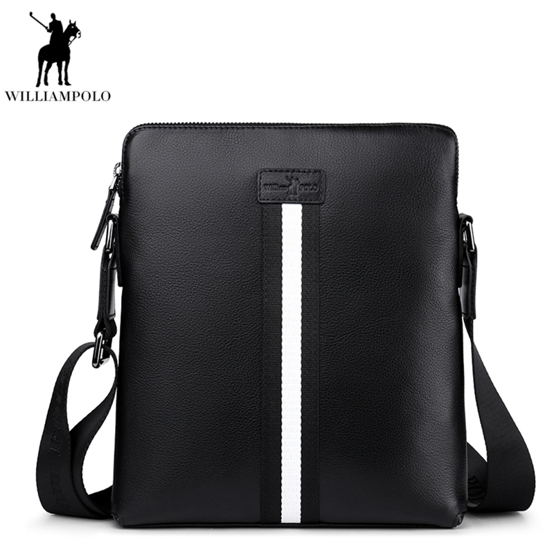 Brand Fashion Business Genuine Leather Men Messenger Bags Promotional Crossbody Shoulder Bag Casual Hand Bag For Male PO018D vintage simple style genuine leather messenger bag men s hand made shoulder bag casual