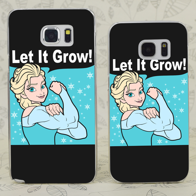 C3905 Funny Gym Elsa Let It Grow Transparent Hard PC Case Cover For Samsung Galaxy S 3 4 5 6 7 Mini Edge Plus Note 3 4 5 7