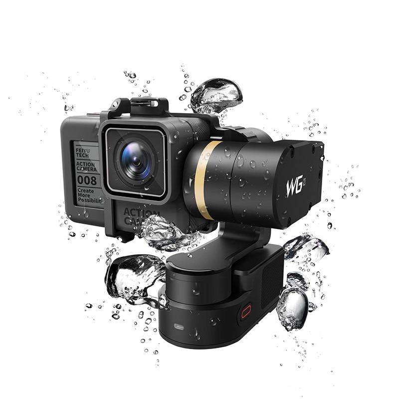 New Arrival Feiyu WG2 Waterproof 360 Degree 3-Axis Gimbal Camera Stabilizer FPV For GoPro 5/4/3+/3 YI 4K SJCAM AEE [hk stock][official international version] xiaoyi yi 3 axis handheld gimbal stabilizer yi 4k action camera kit ambarella a9se75 sony imx377 12mp 155 degree 1400mah eis ldc sport camera black