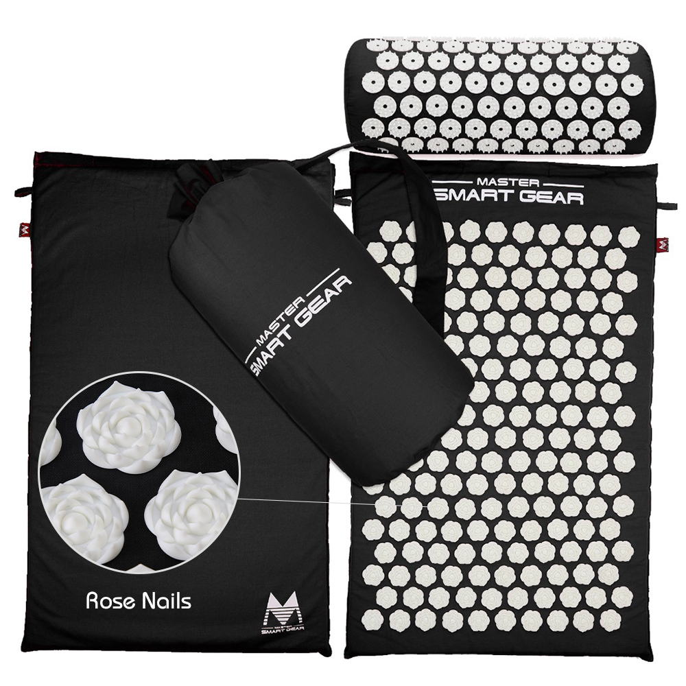Pillow-Set Massage-Mat Acupressure Tension-Release Relaxation Sciatic Relieves-Stress