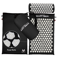 Acupressure Massage Mat Pillow Set Yoga Mat for Relieves Stress Back Neck Sciatic Pain Relaxation Tension Release with Free Bag
