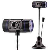USB 2.0 Webcam Câmera HD Webcam com Microfone MIC Para Notebook PC Motorista Livre