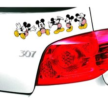 Mickey Mouse Topolino E Minnie Auto Door Sticker Divertente Accessori Auto per Renault Toyota Bmw Audi Q3 Q5 Ford Focu golf(China)