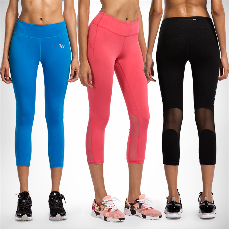 55bae764e Vansydical 2019 New Quick Dry Women Sportswear ropa deportiva mujer gym  Leggings Fitness Tights Jogging 3/4 Running Yoga Pants