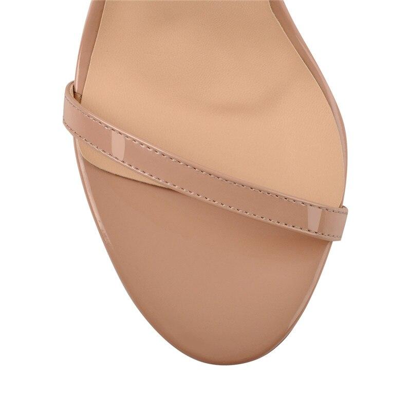 Onlymaker Women's peep Toe สายคล้องข้อเท้าเดียวฤดูร้อนรองเท้าแตะ Chunky Block Heel หัวเข็มขัดอย่างเป็นทางการสำนักงาน Casual Plus siz-ใน รองเท้าส้นสูง จาก รองเท้า บน   3