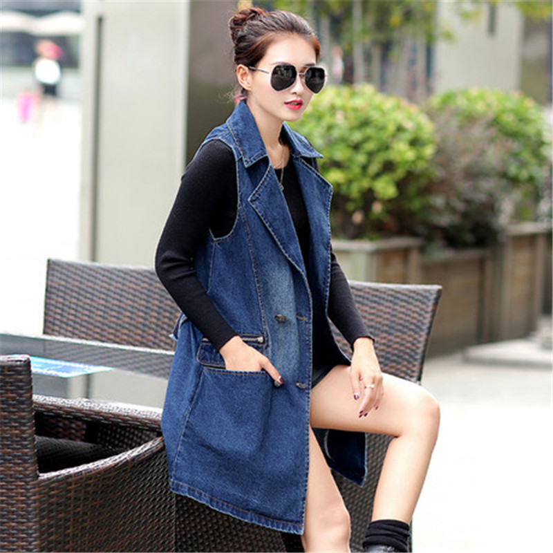 Aliexpress.com : Buy Fashion Women Denim Vest Brand Slim Fit Long ...