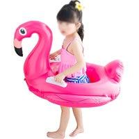 Inflatable Flamingo Pool Float Boat Swimming Ring Float Children Tube Raft Kid Air Mattresses Ring Summer Water Fun Pool Toy