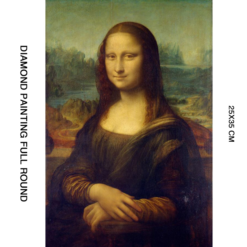 New Arrivals 5D DIY Diamond Painting Full Round Mona Lisa Diamant Daimond Painting Accessories Paintings Three dimensional Art in Diamond Painting Cross Stitch from Home Garden