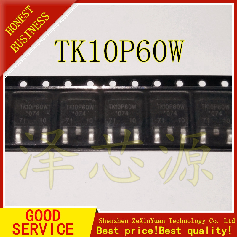 10PCS/LOT TK10P60W 10P60 60W TO-252 POWER PATCH MOS TUBE NEW