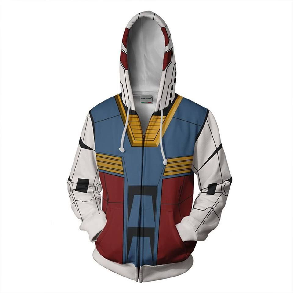 BIANYILONG 2019 new men hooded Gundam 3D printed hoodies sweatshirt casual tracksuit with hoodie hip hop tops