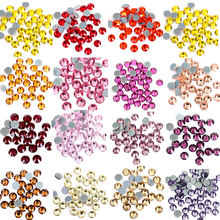 High-Quality SS6-SS20 Colorful Crystal AB DMC Hot Fix Rhinestones Glass Strass Iron On White Hotfix Rhinestone For Clothes B0890(China)