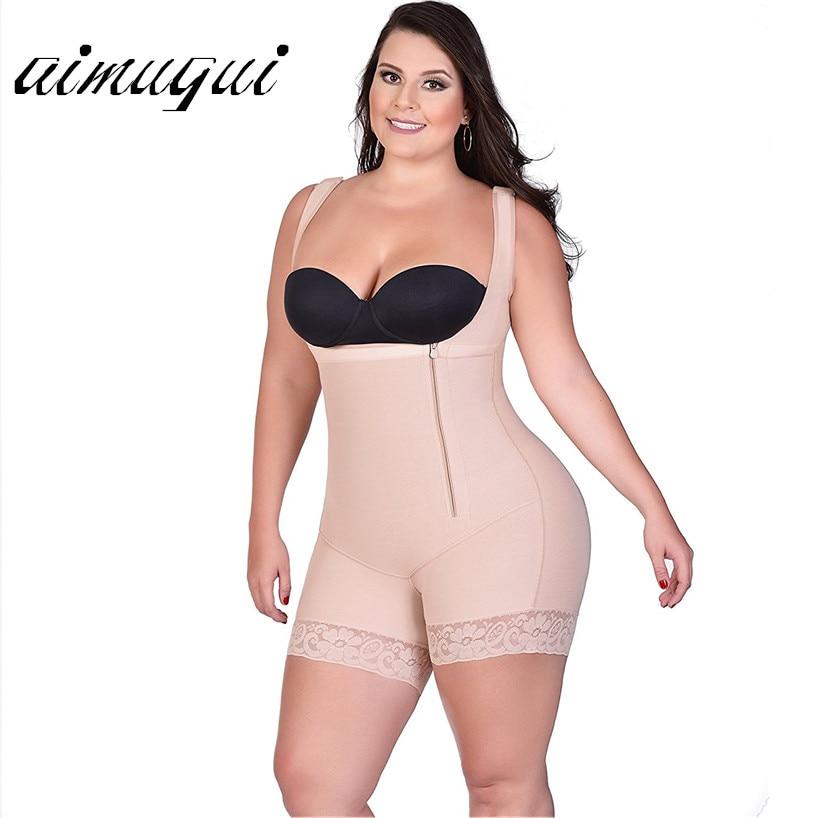 28fb641bb0735 Plus Size Sexy Women Shapewear Bodysuit Modeling Strap Bodysuits Slimming  Shaper Corset Waist Trainer Butt Lifter Underwear