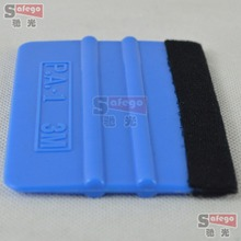 Car Care blue Car Squeegee Decal Vinyl Plastic Wrap Chrome Applicator soft plastic packaging vinyl decals felt scraper car tool
