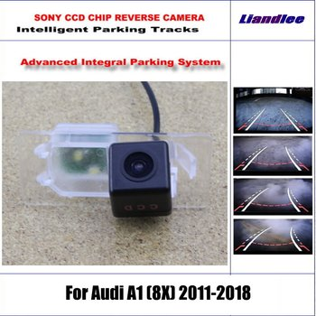 HD CCD SONY Rear Camera For Audi A1 (8X) 2011-2018 Intelligent Parking Tracks Reverse Backup / NTSC RCA AUX 580 TV Lines