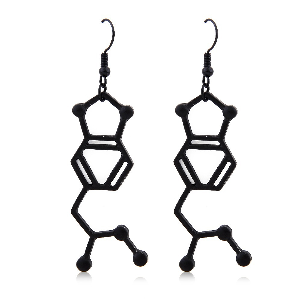 M*DMA Molecule Structure Nifty Earrings Lovely Trendy Simple Jewelry Chemical Formula Eardrops For Best Friends Lovers Wholesale