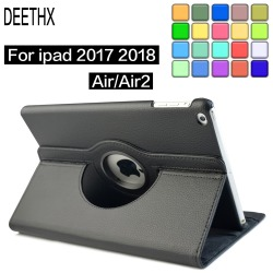 360 Degree Rotating Leather Smart Cover Case for Apple iPad Air 1 Air 2,For New iPad 9.7 2017 2018 A1822 A1823 A1893 Coque Funda