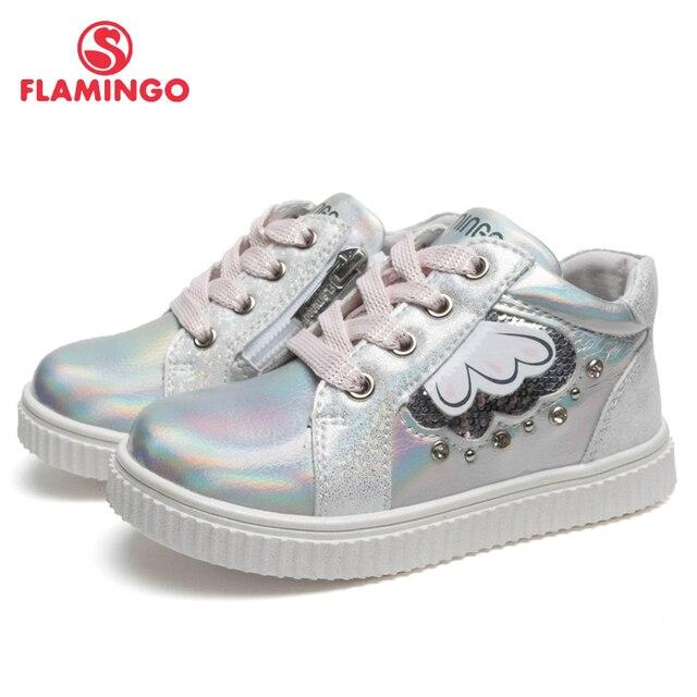 Бренд Фламинго; дышащая детская прогулочная обувь с застежкой-липучкой; кожаные кроссовки для девочек; Размеры 22-27; 91P-XY-1445