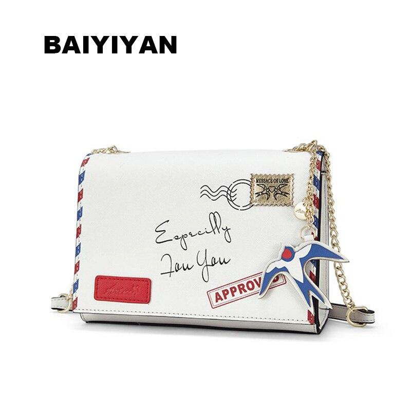 New arrivals Women Clutch Bags Vintage Split PU Pattern Envelope Shoulder Ladies Small Messenger Handbag  bag Female Gift