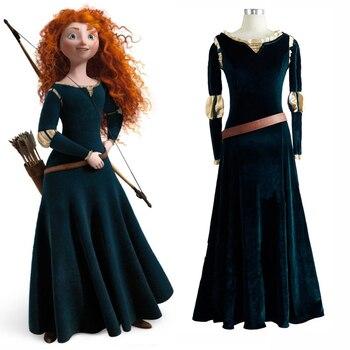 Film/Movie Brave Cosplay Costumes Merida Adult Cosplay Dresses The Princess Merida Dress Free Shipping