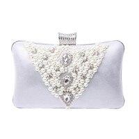 Rhinestone Clutch Wholesale Price Bag Women S Imitation Pearls Evening Bags Handmade Beaded Clutch Purse Party