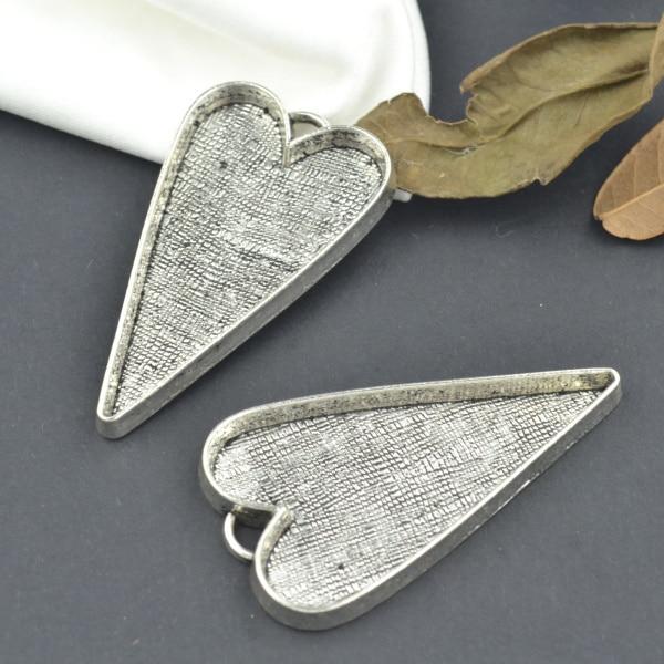 Wholesale 15pcs/lots Metal Tibetan Silver Charms Heart