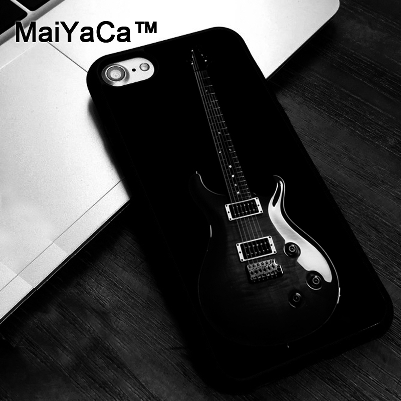 maiyaca cool black guitar case for iphone 7 8 6 6s plus x xr xs max 5 5s se cover coque in. Black Bedroom Furniture Sets. Home Design Ideas