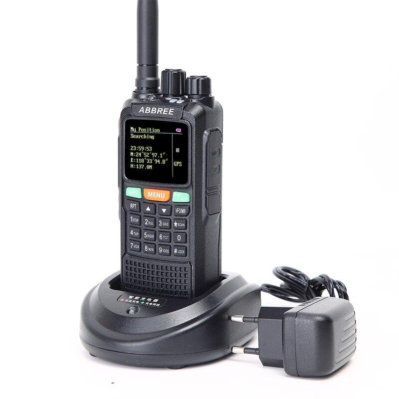 ABBREE AR-889G GPS SOS 10 W 999CH Croix Bande Répéteur Nuit Rétro-Éclairage Tri Bande 134-174/400-520/350- 390 MHz (RX) radio Talkie Walkie - 2