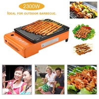 2200W Outdoor Indoor Cooker Burner Camping Barbecue Picnic Portable Gas Roast Stove Kitchen Chrome Plated Roasting Grills