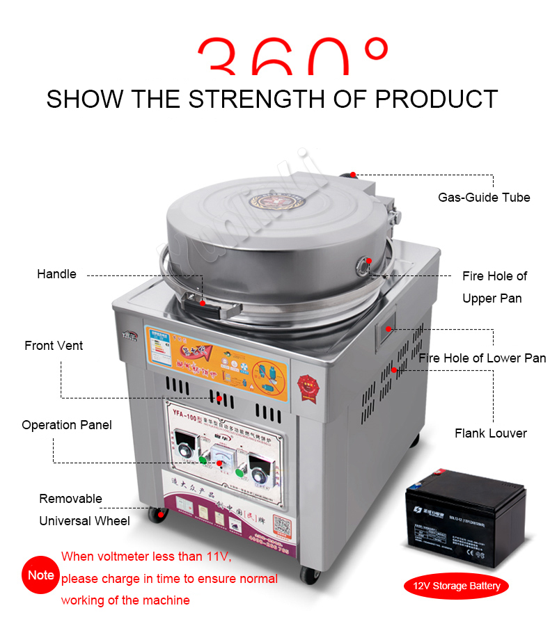 Commercial Gas Pancake Maker Commercial Pancake Making Machine Gas Banking Pan Gas Pancake Stove Pancale Furnace 100