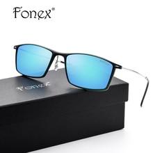 FONEX no Screw 2017 New Fashion High Quality Titanium Sunglasses Women Brand Designer TR90 Ultralight Square Sun Glasses for Men