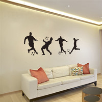 Soccer Movement Wall Stickers For Kids Rooms Home Decor Living Room Bedroom Vinyl Removable Sticker Mural