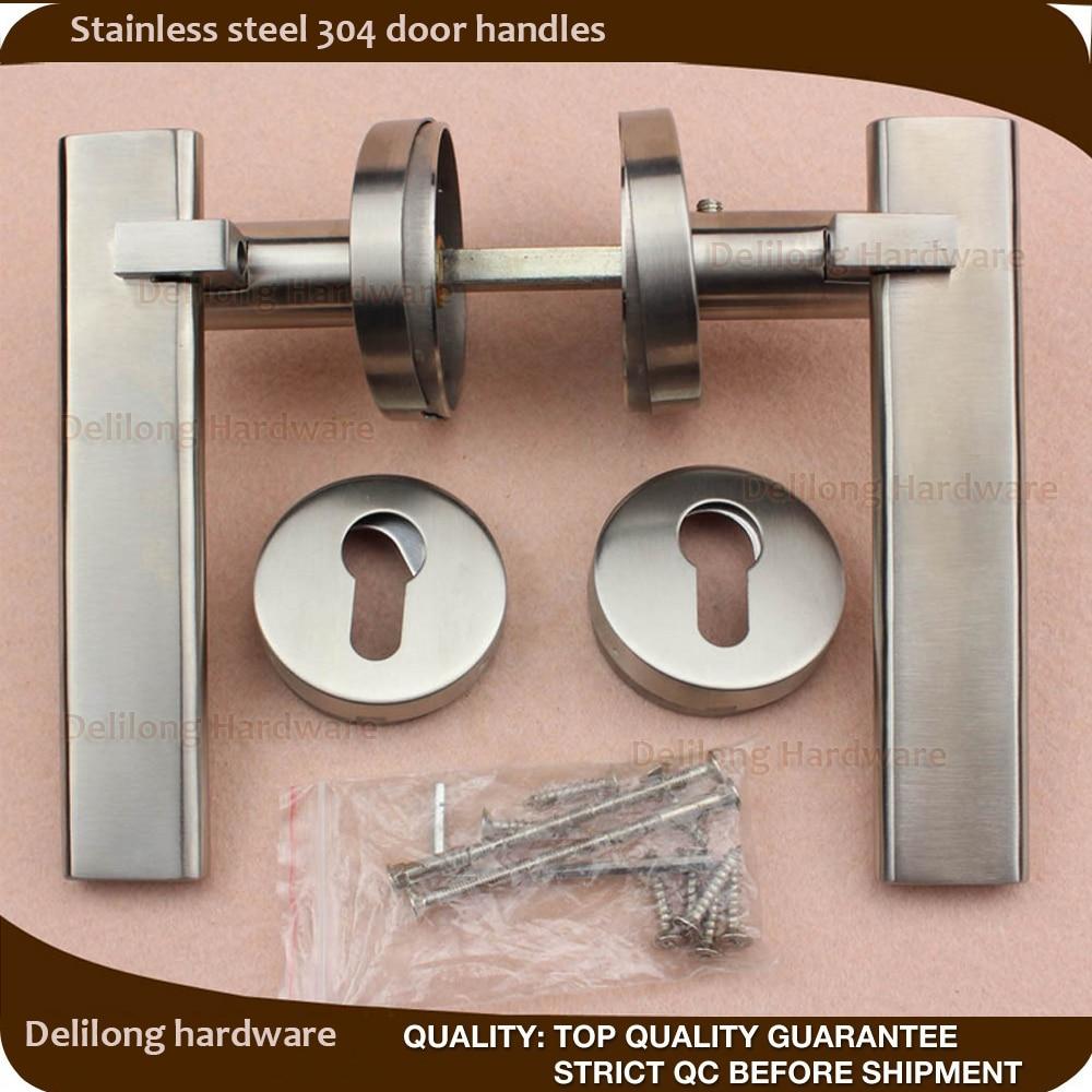 European intierior door lock handle SUS304 door handle for steel door wood door mortise lock handles-in Door Handles from Home Improvement on ... & European intierior door lock handle SUS304 door handle for steel ...