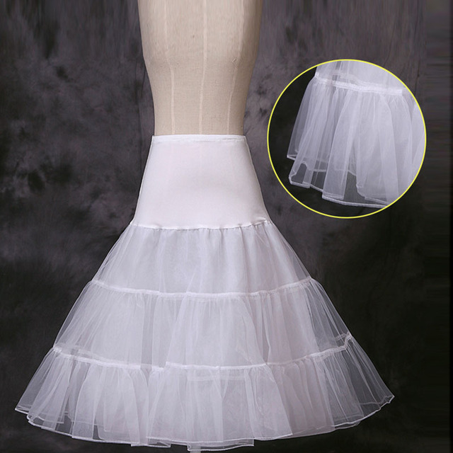High Quality 2016 Bride Petticoat White 3 Hoops A-Line Wedding Dress Underskirt Formal Dress  Stock Wedding Accessories