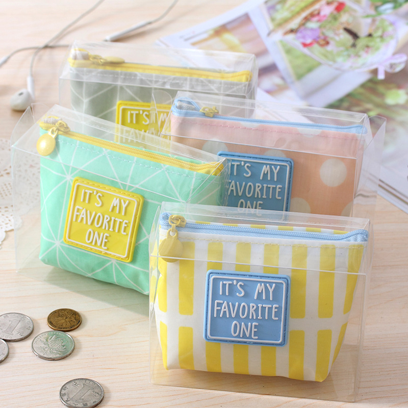2017 kid Simple Letter Coin Purse Wallet Schoolgirl Mini Pen Holder Waterproof Headphone Bag Card Key Bag Case pouch