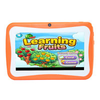 7 Inch Kids Tablet Children Learning Computer Android Quad Core Student Tutor Bluetooth WIFI Learning Tablet