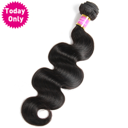 [TODAY ONLY] Brazilian Body Wave Bundles 100% Human Hair Weave Bundles Natural Color Hair 100g/pc Non Remy Hair Extensions