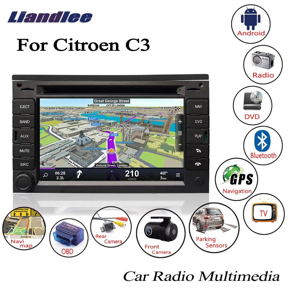 radio cd player Liandlee For Citroen C3 2003~2009 Android Car Radio CD DVD Player GPS Navi Navigation Maps Camera OBD TV Screen Multimedia1