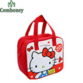 Hello Kitty Bolsa de Almuerzo para Los Niños de la Historieta de Nylon Neopreno Térmica bolsa de Almacenamiento De Alimentos Con Aislamiento Niño Embroma la Caja de Almuerzo para escuela