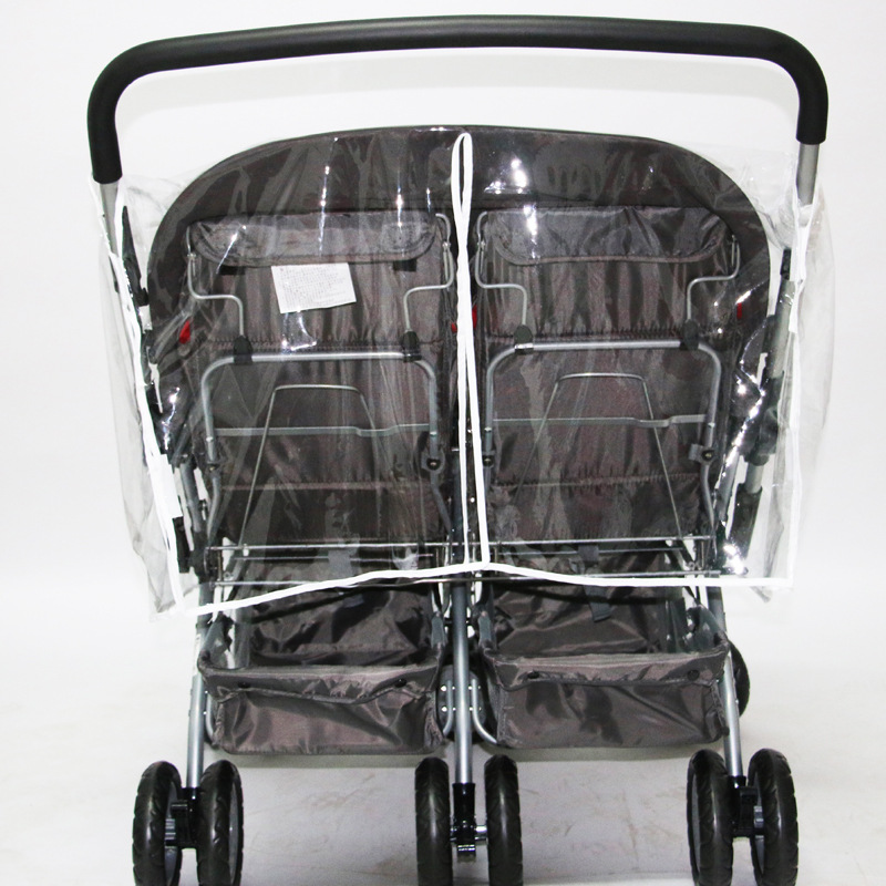 Универсальная двойная коляска, дождевик, прозрачный ПВХ, непромокаемый чехол, ветровое стекло, для близнецов, для новорожденных, детский зонтик, коляска, дождевик