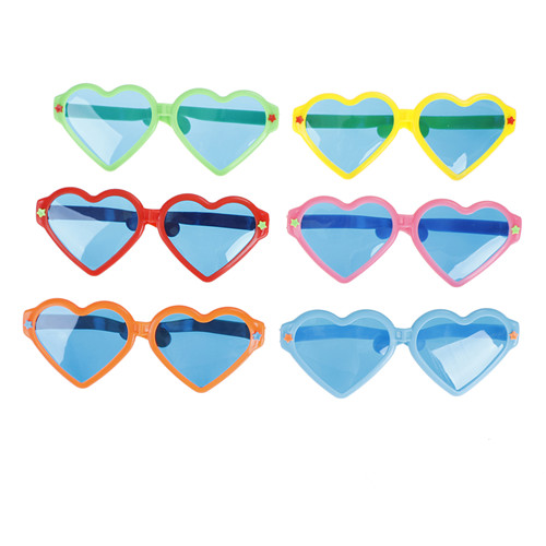 6 Colors Fashion party Fun Heart Big Glasses Party Plastic Glasses Funny Mask Party Props