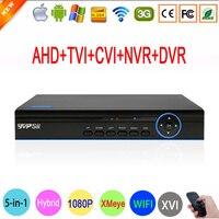 HI3520D Xmeye 8 Canal 8CH 1080 P, 960 P, 720 P, 960 H Cámara de Vigilancia 1080N Híbrido Wifi XVI NVR CVI TVI AHD CCTV DVR FreeShipping