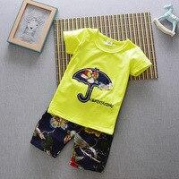 2017 Summer Baby Boys Clothes Kids Short Sleeve Clothing Set Star Toddler Boys Short Sleeved T