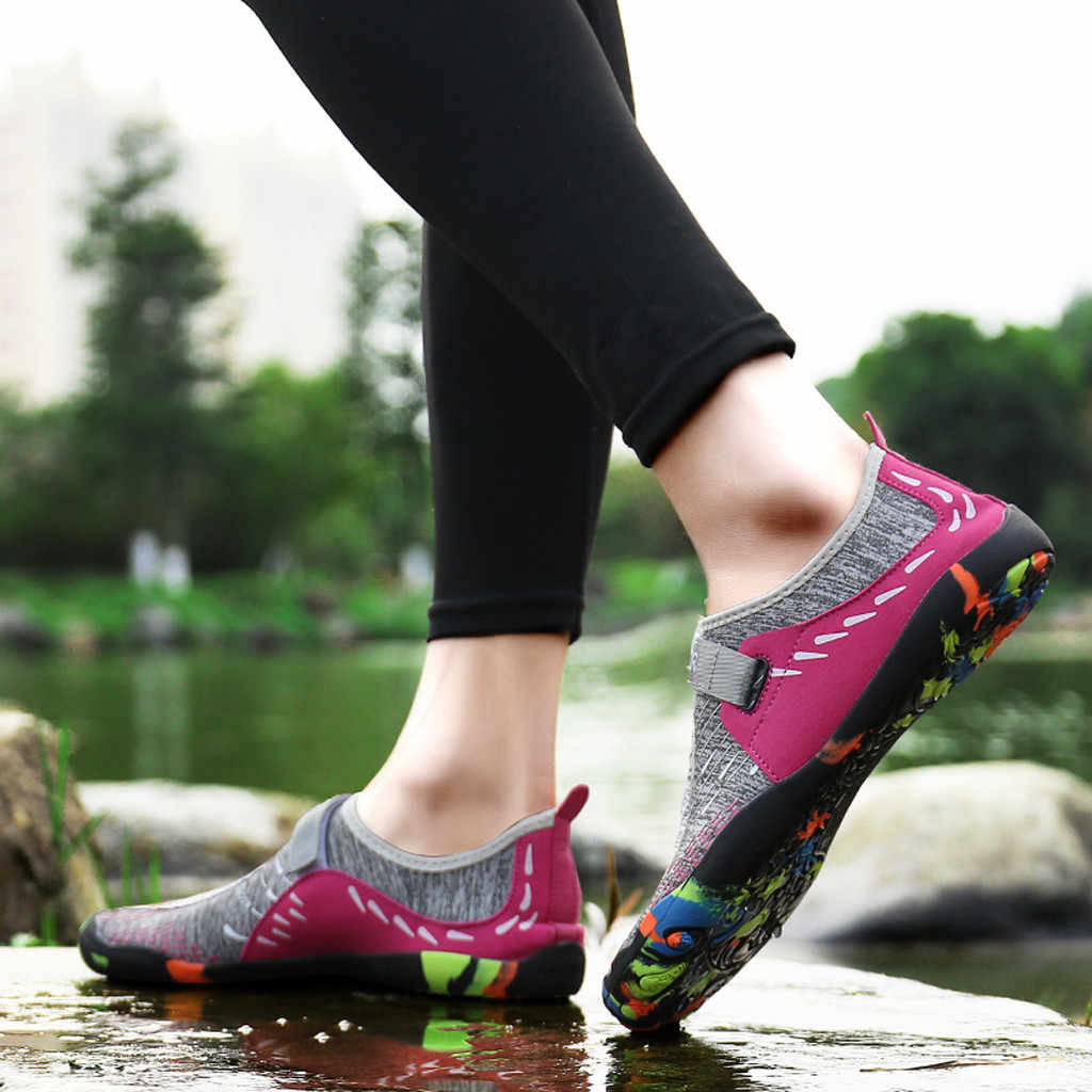 women Sneakers Swimming Shoes Water Sports Aqua Seaside Beach Surfing Slippers Upstream Light Athletic Footwear Men Women #XTN