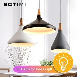 Image 2 - BOTIMI Nordic Retro Pendant Lights For Dining Kitchen Lampadario Vintage Metal Hanging Lamp Indoor Luminaria Light Fixtures