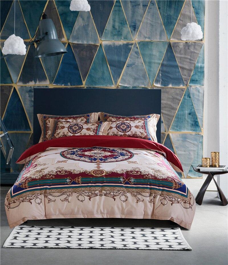 Bohemia bedding sets Egyptian cotton duvet cover set for 4pcs bedsheet Pillowcase set queen king size luxury Bedlinen
