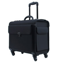 LeTrend 18 inch Oxford Rolling Luggage Spinner flight attendant Suitcase Wheels Cabin Trolley pilot Travel Bags laptop bag(China)