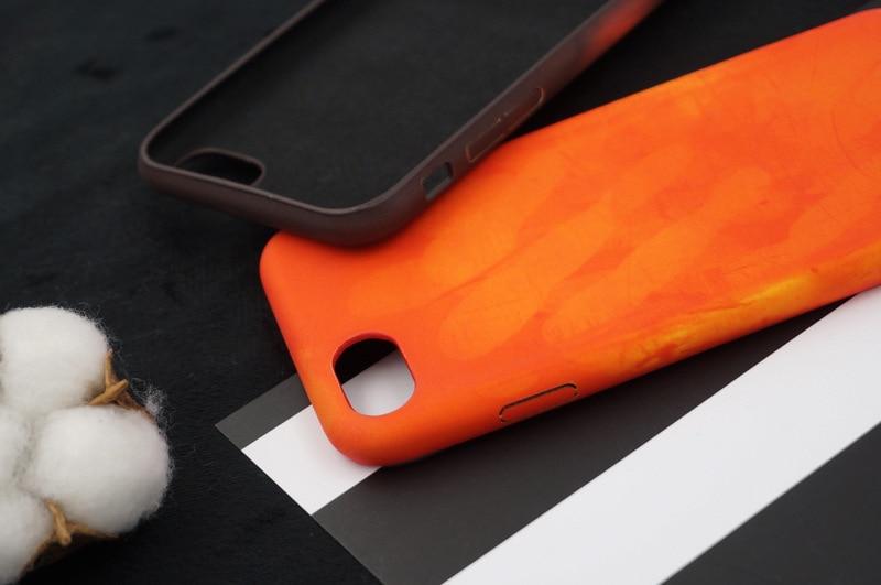 Tfshining PU termisk sensor värmekänslig etui för iphone X XR XS - Reservdelar och tillbehör för mobiltelefoner - Foto 5
