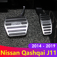 Aluminum alloy Car Styling Accelerator Gas Pedal Brake Pedal Cover For Nissan Qashqai j11 2014 2015 2016 2017 2018 Accessories for honda civic 10th 2016 2017 2018 aluminum car accelerator gas brake pedal non slip pedal plate pads cover accessories styling